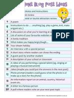 20 Student Blog Post Ideas