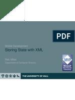 XML Storage of Object State