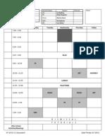 Grade 1 Schedule