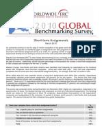 2010 Global Benchmarking Survey Short Term International Assignments