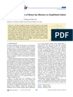 Adsorption Equilibria of Binary Gas Mixtures on Graphitized Carbon Black (Li Et Al, 2012)