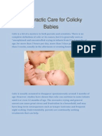 Chiropractic Care for Colicky Babies