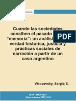 Cuando Las Sociedades Conciben El Pasado - Visacovsky, Sergio E.(Author)