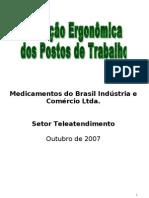 AVALIAÇÃO ERGONÔMICA (TELEATENDIMENTO)