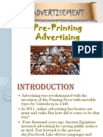 PRE PRITING ADVERTISING