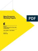 New Economy Working Paper, 'Pay up? Living costs and the living wage in Manchester'