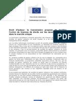 20120711-EU-Proposition de directive sur les sociétés de gestion-Communiqué de presse