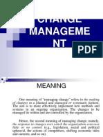 Change Managent Ppt