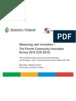 CIS - measuring user innovation in Finland - Statistics Finland