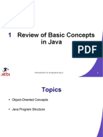 MELJUN CORTES JEDI Slides-Intro2-Chapter01-Review of Basic Concepts in Java