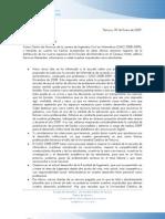 Carta Prorrector 09-01-09