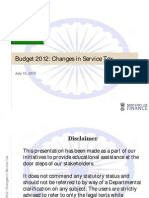 Service Tax Ministry Finance Changes[1]