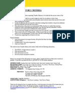 TH Criteria Sheet