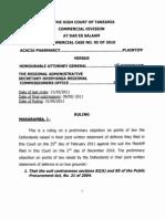 Commercial Case No. 95 of 2010 Ruling Makaramba j