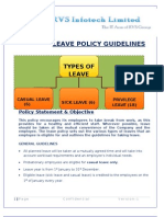 Leave Policy - Rvs Infotech
