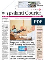 Ypsilanti Courier front page August 2