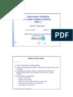 Handouts on Data-driven modelling, part 1 (UNESCO-IHE)
