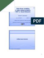 Handouts on Data-driven modelling, part 2 (UNESCO-IHE)