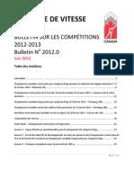 Bulletin sur les compétitions 2012-13 - 2012.0