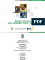 Biblioteca Mínima Educación Inicial y Primaria.