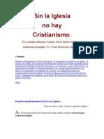 Sin La Iglesia No Hay Cristianismo