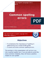PDF Commoon Spelling Errors