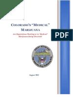 Rocky Mountain HIDTA Medical Marijuana Report