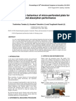 Vibro-Acoustic Behaviour of Micro-perforated Plate For