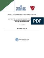 Molise_Avviso voucher catalogo interregionale 2012