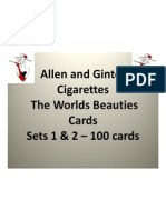 98077418 Allen and Ginter Cigarettes the Worlds Beauties Complete 2 Card Set of 50 Each