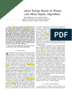 Channel Equalizer Design Based on Weiner Filter and Least Square Algorithms