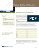 Weekly Market Commentary 07-30-2012