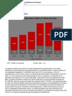 Informe Sectorial Generacion y Distribucion de Energia