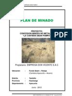 Plan de Minado Cantera Dean Pampa