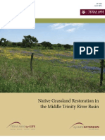 Native Grassland Restoration in the Middle Trinity River Basin