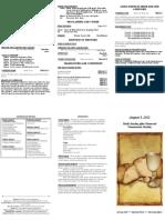 Bulletin - 20120805 Comm