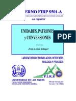 Unidades, Patrones y Conversiones