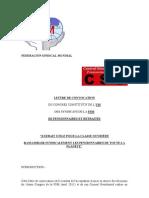 LETTRE DE CONVOCATION DU CONGRÈS CONSTITUTIF DE L' UIS  DES SYNDICATS DE LA FSM   DE PENSIONNAIRES ET RETRAITÉS
