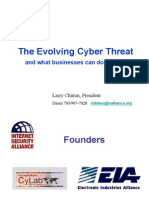 2007 06 25 Larry Clinton Rochester Presentation About Best Practices and Cyber Threats