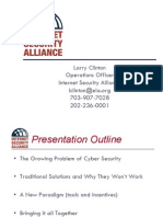 2004 12 03 Larry Clinton Philadelphia Presentation About ISA and Coherent Program of Cyber Security Through Incentives