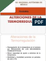 ALTERCIONES DE LA TERMORREGULACIÓN EN PACIENTE GERIATRICO