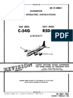 Flight Operating Instructions USAF C-54G & Navy R5D-5 Aircraft (1952)