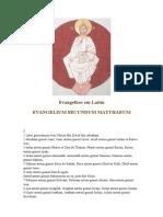 Evangelhos Em Latim