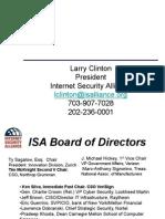 2009 10 21 Larry Clinton Financial Risk Management Presentation for ANSI