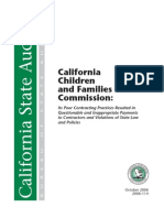 California Children and Families Commission, Audit, Oct 2006
