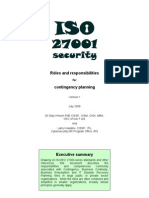 ISO27k Roles and Responsibilities for Contingency Planning