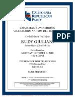 Reception for California Republican Party