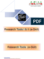 Research Tools I & II  - By