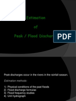 8 - Estimation of Peak Flood Discharge