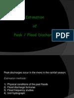 8 - Estimation of Peak Flood Discharge